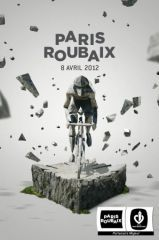 Affiche de Paris-Roubaix 2012 http://21virages.free.fr/blog/index.php?post/2012/02/07/Paris-Roubaix-2012
