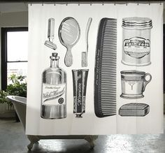 Apothecary Shower Curtain #ownit