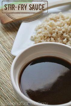 Stir-Fry Sauce - a perfect dip for egg rolls - a dressing or sauce on chicken, pork, steak, steamed veggies or on a hot stir fry!  http://www.cookandcraftmecrazy.blogspot.com/2014/02/stir-fry-sauce.html