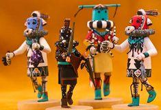 Hopi Kachina dolls/ Heard Museum in Phoenix has many wonderful examples/ they were used for teaching children the native Hopi Gods/AZ
