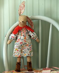 Posie: Rosy Little Things — Miss Maggie Rabbit Softie Sewing Pattern