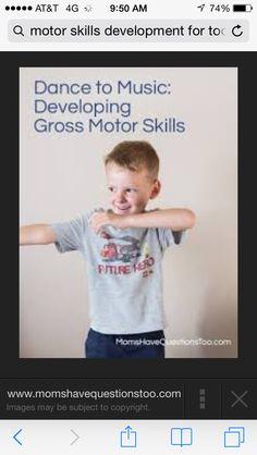 Developing gross motor skills
