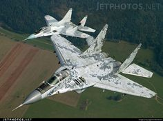 """Slovak Air Force Mikoyan MiG-29AS """"Fulcrums"""""""