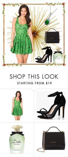 """""""Green dress"""" by dinaa45 ❤ liked on Polyvore featuring Boohoo, Dolce&Gabbana, Givenchy and Bling Jewelry"""