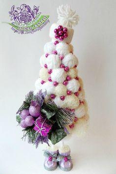 Как сделать топиарии. Подарки ручной работы Christmas Advent Wreath, Homemade Christmas Decorations, Pink Christmas, Christmas Is Coming, Christmas Angels, Xmas Decorations, Simple Christmas, Handmade Christmas, Christmas Crafts