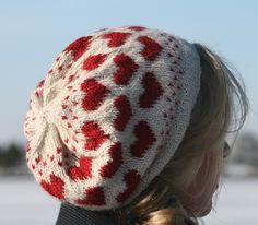 Heart Hat.  Sizes for age 5 through adult. Sport weight yarn.  Alpaca suggested.