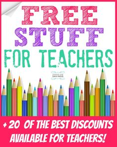 I can't think of many jobs harder than being a Teacher! Here's a HUGE List of Free Stuff for Teachers & Freebies for your classroom in 2014! Teacher Organization, Teacher Tools, Teacher Hacks, Teacher Resources, Teacher Stuff, Teacher Supplies, Being A Teacher, Teacher Survival, Teacher Websites