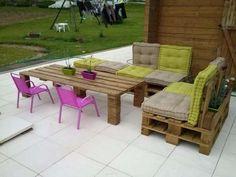 Salon de Jardin en Palette : 21 Idées à Découvrir | Pallets, Porch ...