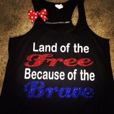 Land of the Free - Because of the Brave - Ruffles with Love - Racerbac