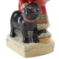 Handmolded using Victorian-era chocolate molds and handpainted by New England artists, this folksy Vaillancourt Santa and Labrador figurine was designed for the Orvis customer. Santa's most faithful canine companion is as friendly-faced and detailed as Santa himself, making them a charming pair as they tromp through the glittering snow side by side. Designed by artist Judi Vaillancourt, each piece is created in exceptional detail in the Sutton, Massachusetts studio. An Orvis exclusive. Ch...