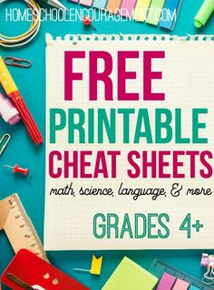 Free Printable Cheat Sheets