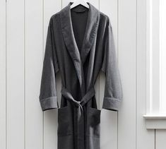 Vincent Men's Cotton Flannel Robe #potterybarn