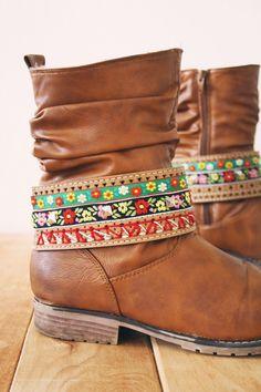 really cool: Boho boot belt #diy