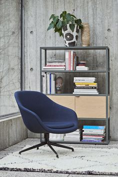 About A Lounge chair and New Order shelving system. HAY http://decdesignecasa.blogspot.it