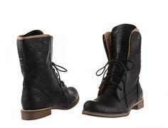 Mid-calf Lace up Rock Boots (3 color)