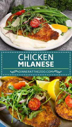 Heart Healthy Chicken Recipes, Chicken Cutlet Recipes, Best Chicken Recipes, Chicken Salad Recipes, Healthy Recipes, Turkey Recipes, Baked Chicken, Crispy Chicken, Milanese Recipe