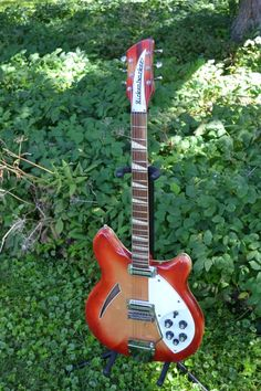 Vintage 1967 Rickenbacker 365 Electric Guitar In Fireglo Checkerboard Binding Crushed Pearl Inlays