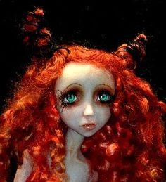 Custom OOAK BJD Art Doll By Victoria May, via Etsy.
