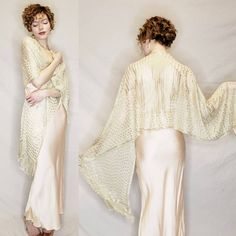 Embroidered Cream & Silver Gold Plate Assuit Shawl / Tulle Bi Telli Wrap Metallic Large Wedding Scarf Art Deco Egyptian Revival by RareJuleVintage on Etsy Hollywood Red Carpet, Chiffon Evening Dresses, 20s Fashion, Wedding Shawl, Oversized Scarf, Babydoll Dress, Sheer Blouse, Vintage Yellow, Belly Dance