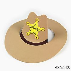 Find a great selection of Western Crafts at Oriental Trading. Get western party ideas by browsing our Western Crafts for Kids and Cowboy Crafts. Vbs Crafts, Camping Crafts, Preschool Crafts, Crafts For Kids, Cowboy Party, Cowboy Birthday Party, Cowboy Hat Crafts, Western Crafts, Rodeo Crafts