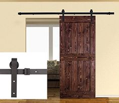 Sumder Carbon Steel 6.6FT Sliding Barn Door Hardware Kit ... Https:/