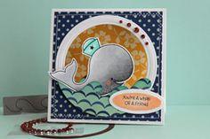 Tent Card Tutorial - Splitcoaststampers by Beate Johns. (Pin#1: Tutorial-Splitcoaststampers. Pin+: Peek-A-Boo...; Sealife...).