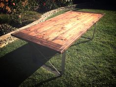 Made from Doug fir, cold rolled steel and stainless steel carriage bolts, this dining table can be made to meet your size requirements. Carriage Bolt, Wine Display, Diy Table, Working Area, Westminster, New Homes, Cold Rolled, Dining Tables, Rhode Island