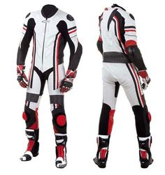 Professional Motorcycle Leather Pre-Curved Suit. Durable 1.2 -1 .3 MM Premium Full Grain Leather. Double & Triple Stitched Seams At All Impact Areas Strategically Placed Stretch Elastic Panels In Arms, Crotch, Back Knees And Calf(Keprotec Upgradable). Multiple Accordion Flex Zones For Comfortable Ride Dynamic Race Aero Hump Perforated Chest / Thighs Panels For Maximum Airflow Vented Heavy Duty Summer Mesh Liners CE Protective Armors At All Critical areas.