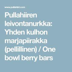 Yhden kulhon marjapiirakka (pellillinen) / One bowl berry bars Recipes, Retro, Recipies, Ripped Recipes, Retro Illustration, Cooking Recipes, Medical Prescription, Recipe