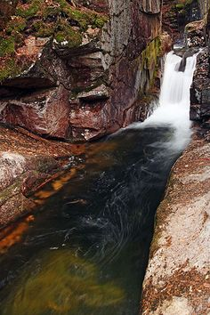 Lower Tier of Sabbaday Falls, New Hampshire