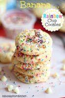 Banana Rainbow Chip Cookies - Eat Cake For Dinner