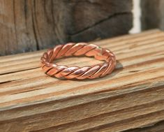 Handmade Twisted Copper Ring