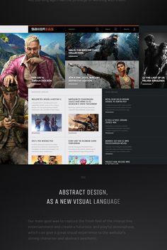 Gamer365 Elastic Framework on Behance