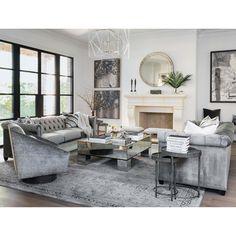 Coastal Living Rooms, Elegant Living Room, Elegant Home Decor, Living Room Grey, Formal Living Rooms, Living Room Modern, Home Living Room, Interior Design Living Room, Living Room Designs