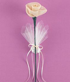 Τριαντάφυλλο Γάζα Εκρού για Μπομπονιέρα Γάμου Dandelion, Flowers, Plants, Wedding, Valentines Day Weddings, Dandelions, Hochzeit, Planters, Weddings