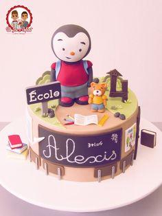 Gâteau Tchoupi à l'Ecole - Un Jeu d'Enfant Cake Design - Nantes, France #Tchoupi #Cake #School