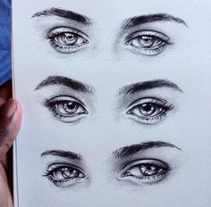 I'm obsessed with eye drawings