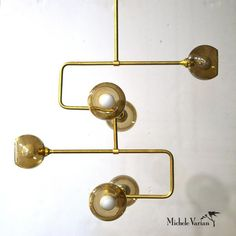 Brass Stacked Triple Circuit Chandelier