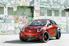 Smart hopes the car will be used in city's around the world, and claim it has been designed to look like a face. It also has a glass roof as a sunvisor on the outside of the windscreen.