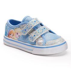 NEW~ Disney Toddler Girl's Frozen Anna & Elsa Sneakers, Blue / Silver- Size: 10T #FrozenAnnaandElsa #Sneaker