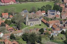All Saints Church in Bawdeswell - Norfolk aerial image | by John D F