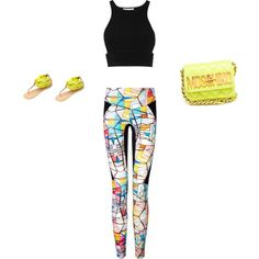 A fashion look from February 2015 featuring Jonathan Simkhai tops, Lucas Hugh leggings and Charlotte Russe sandals. Browse and shop related looks.