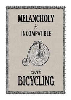 Quote Poster  Vintage Bicycle by oflifeandlemons on Etsy, $16.00