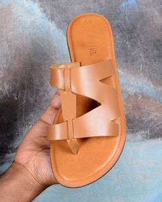 Womens Leather Brown Sandals, Comfy Sandals Walking, Womens Leather Slip on Sandals, Trendy Sandals Women by Father Paul Brown Leather Sandals, Brown Sandals, Flat Sandals, Gladiator Sandals, Shoes Sandals, Mens Fashion Shoes, Fashion Sandals, Emo Fashion, Trendy Sandals