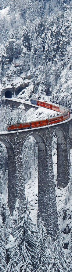 Landwasser Viaduct, Graubünden Switzerland. This photo is amazing!