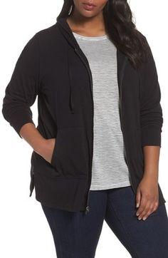 Shop Now - >  https://api.shopstyle.com/action/apiVisitRetailer?id=662019901&pid=uid6996-25233114-59 Plus Size Women's Sejour Zip Front Hoodie  ...