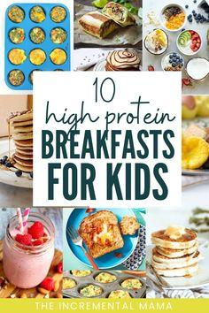 Looking for healthy breakfast ideas for your picky eaters? Check out these 10 easy high protein breakfasts your kids will love in the mornings. Breakfast For Kids Healthy Toddler Breakfast, Healthy Breakfast For Weight Loss, High Protein Breakfast, Healthy Eating For Kids, Healthy Breakfast Recipes, Eat Healthy, Breakfast Ideas For Kids, Toddler Food, School Breakfast