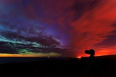 Hidden aurora - Aurora borealis in Scotland