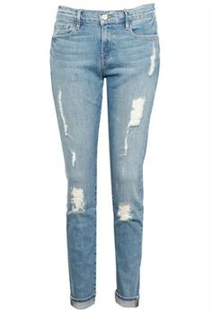 The 'Le Garcon Beek Street' by Frame Denim distressed jeans has a slim, boyfriend fit $450, get it here: http://rstyle.me/~243Zi