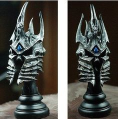WOW World of WarCraft Lich King Arthas Metal Helmet Helm Figure Boss Collectible @ niftywarehouse.com